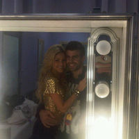 Piqué és Shakira a backstage-ben
