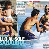 A Corradi család Sabaudiában nyaralt