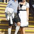Lahm és felesége az Oktoberfesten