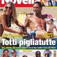 Tottiék a Novella magazin címlapján