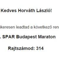 Beneveztem! - Budapest maraton harmadszor!