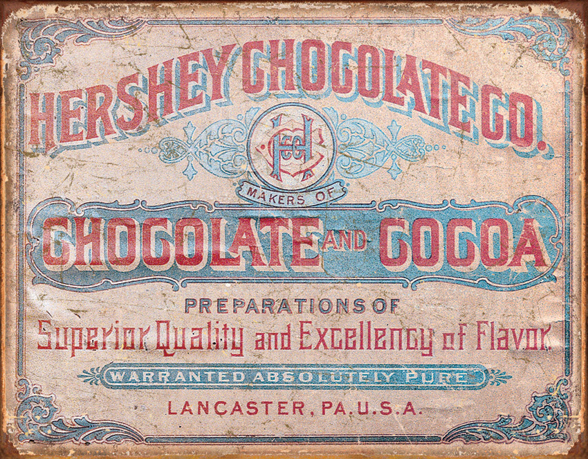 Tin_Sign_Hersheys_Chocolate_and_Cocoa_Weathered_Retro_Lancaster_PA_Vintage_Country_Decor_TSN1768.jpg