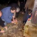 képek a november 4-i gyertyagyújtásról a kopjafánál