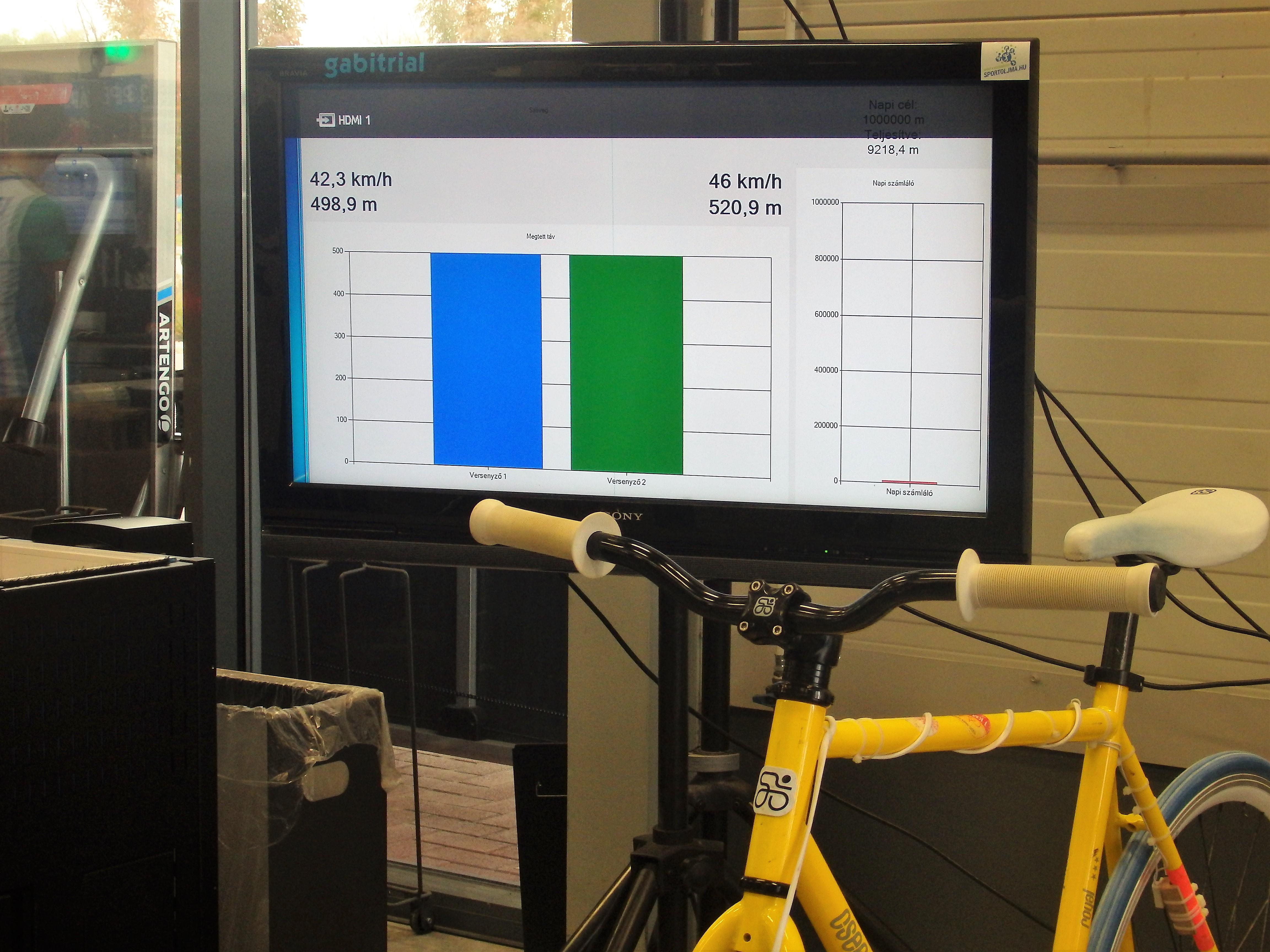 goldsprint páros kerékpár verseny gabitrial