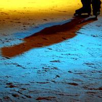árnyék a jégen