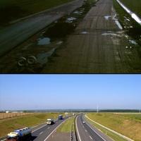 Akkor és most.. autópálya építés M7 Nagykanizsa 2007.06.02. és 2008.08.28.