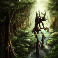 Mitágó-erdő illusztráció