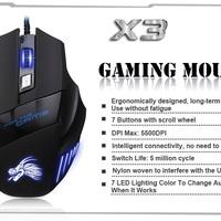"""X3 optikai """"gamer"""" egér – nem bírod levenni róla a szemed!"""