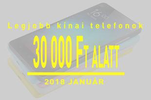 Legjobb kínai telefonok 30 ezer forint alatt januárban