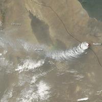 A Nabro vulkán kitörése
