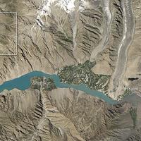 Hunza-völgy - földcsuszamlás által elgátolt tó