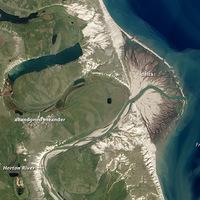 A Horton folyó deltatorkolata