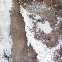 Hó az Atacama-sivatagban