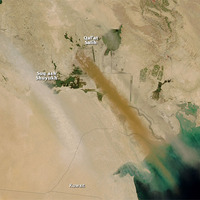 Porfelhők Irak felett
