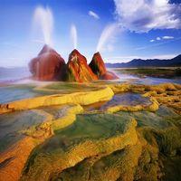 Gejzír a Black Rock sivatagban