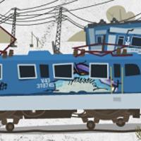 Fejjel lefelé állnak a vonatok a Rákosrendezői vasútállomáson