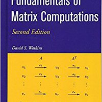 _NEW_ Fundamentals Of Matrix Computations. Schottky section summer charging programa warning century