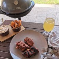 Házi BBQ szószos, grillen sült oldalas