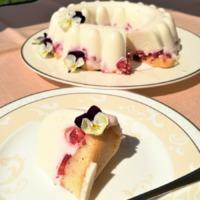Habkönnyű epres- túrós desszert