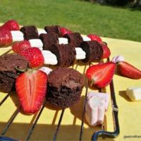 Villámgyors édes epres- brownies nyárs pillecukorral