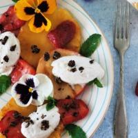 Grillezett gyümölcsös desszert