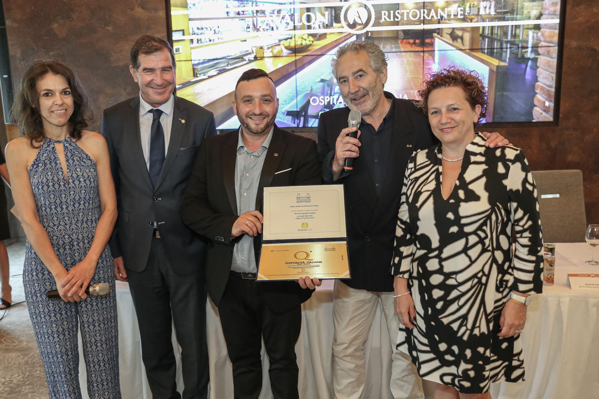 Szívből gratulálok az első vidéki éttermünknek, aki elnyerte az  Ospitalitá Italiana díjat!