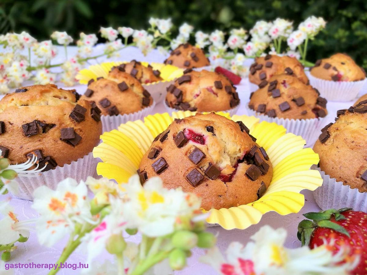 Epres-csokis muffin