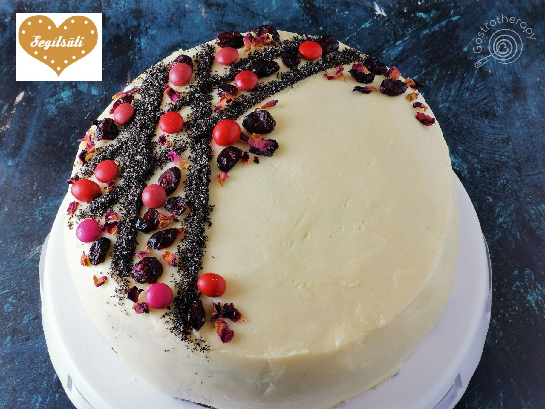 Meggyes- mákos torta