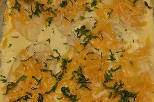 Tejfölös-sajtos csírkemell