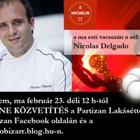 Nicolas Delgado a Partizan Lakásétteremben