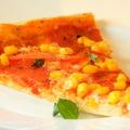 Ropogós pizza - szalámis-kukoricás