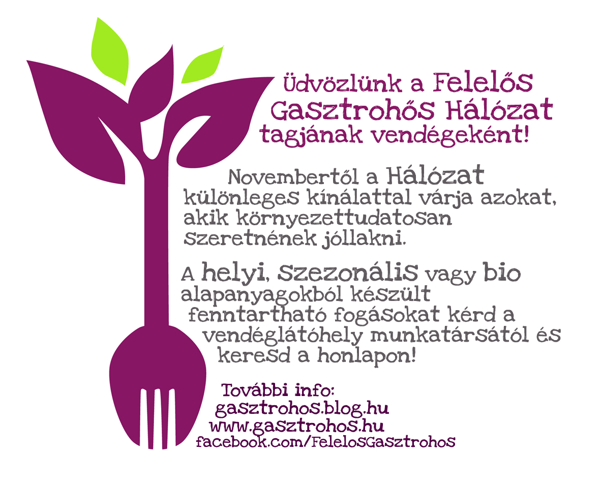 Novembertől Felelős Gasztrohős fogások és ajándékok várnak rátok!