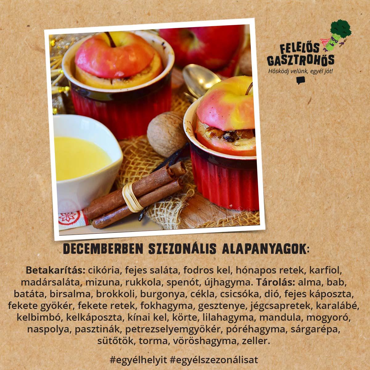 Decemberi szezonális receptek