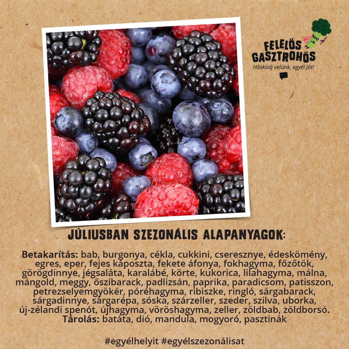Júliusi szezonális receptek