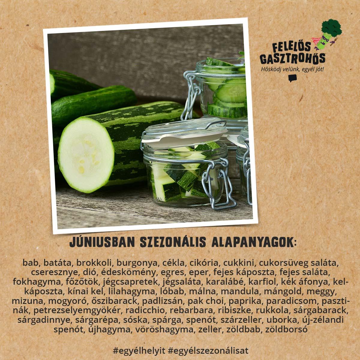 Júniusi szezonális receptek