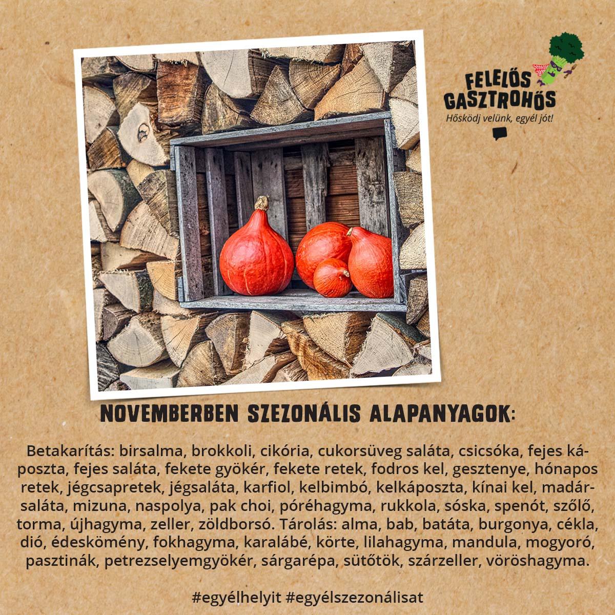 Novemberi szezonális receptek