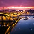 Budapest jégzajlás - esti fotók