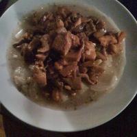 Gombapörkölt kínai kel főzelékkel