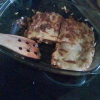 Gombás lasagna