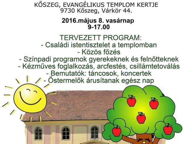 4. Templomkert családi piknik és vásár - Kőszeg