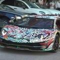 Művészet vagy elmebaj az összefestett Lamborghini?