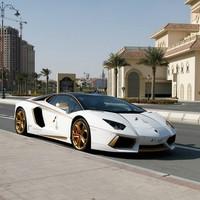 Itt az aranyozott Lamborghini Aventador