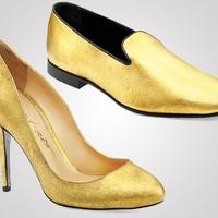 Aranyozott bársonycipő félmillióért