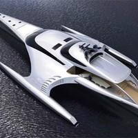 Többszörös díjnyertes futurisztikus jacht