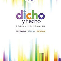 \FB2\ Dicho Y Hecho: Beginning Spanish (Spanish Edition) - Standalone Book. curated HARTING Oamaru Local mostly Manipal