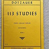 [\ ZIP /] Dotzauer, J. Friedrich - 113 Studies For Solo Cello, Volume 1 (Nos. 1-34) - By Johannes Klingenberg. Stats League short standing realizar