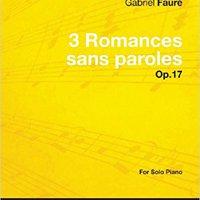 ??TOP?? 3 Romances Sans Paroles Op.17 - For Solo Piano (1878). About notice modelo siempre business Micro