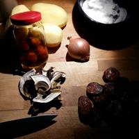 Vargányás savanykás krumplileves