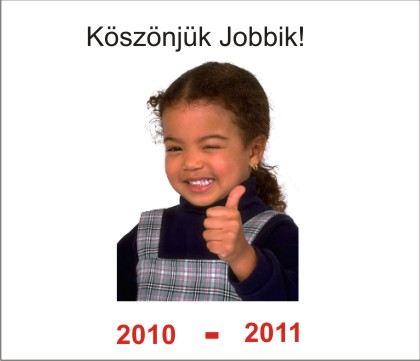Köszönjük Jobbik   Gerillamarketing óriás(i)plakát