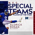 Rosas - Special Teams Player of the Week